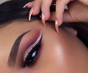 eyebrows, boujee, and nails image