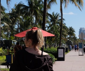 girl, Miami, and travel image