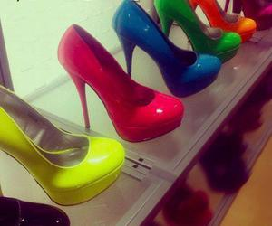 fashion, shoes, and neon image