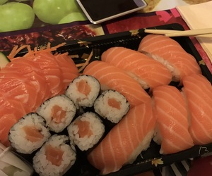 maki, salmon, and sashimi image