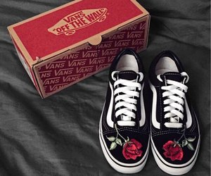 rose, vans, and fashion image