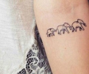 elephants, ink, and pretty image