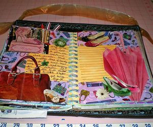 journal, smashbook, and glue book image