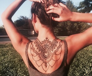 tattoo, back, and henna image