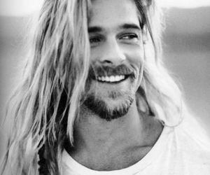 brad pitt, sexy, and smile image