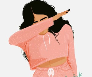 beautiful, girl, and dab image
