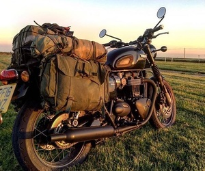 backpack, Motor, and motorcycle image