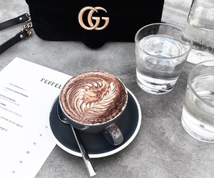 coffee, gucci, and bag image