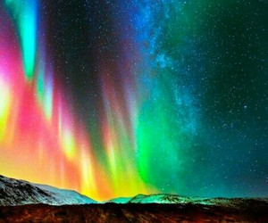 aurora, lovely, and nature image