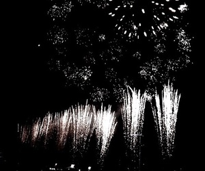 dark, theme, and fireworks image