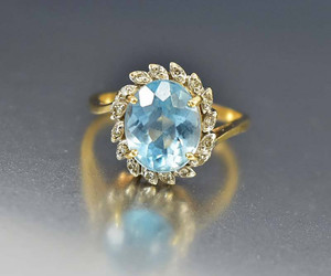 blue, diamond, and halo image