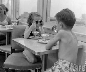 kids, black and white, and boy image