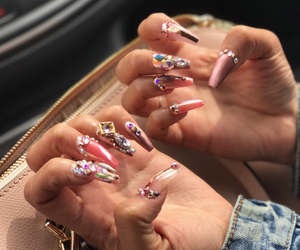 nails and rhinestone image