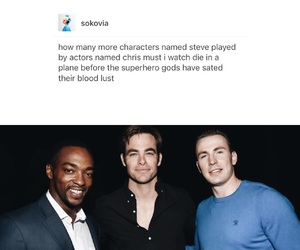 captain america, chris evans, and chris pine image