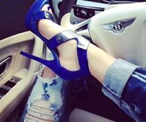 heels, shoes, and car image