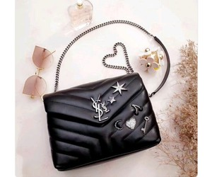 bag, clutch, and YSL image