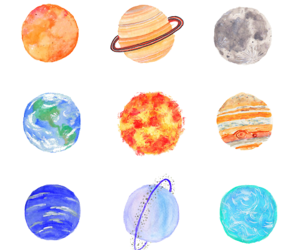 alien, planets, and galaxy image