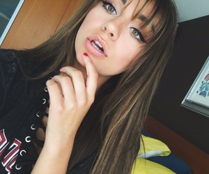andrea russett, hair, and bangs image