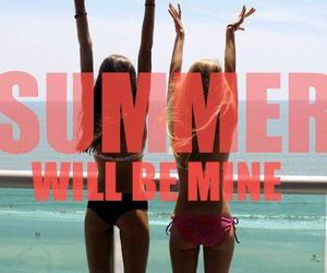 summer, girl, and text image