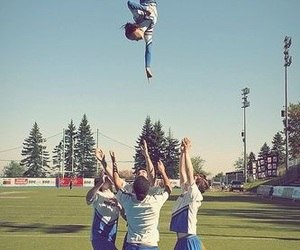 cheer, cheerleading, and cheerleader image