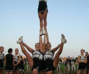 cheer, stunt, and cheerleader image