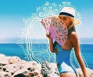 beach, fashion, and tropical image