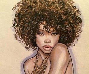 beautiful, curly, and dark skin image