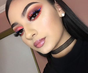 makeup, girl, and style image