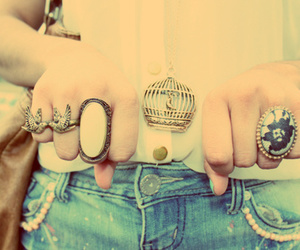 denim, forever21, and rings image