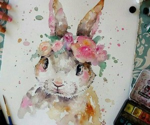 art, bunny, and rabbit image