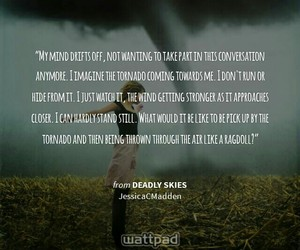 quote, tornado, and tornadoes image