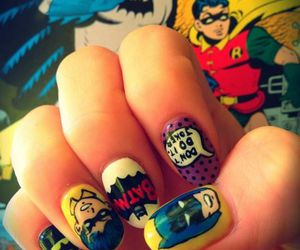 nails, batman, and nail art image