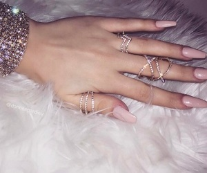 bling, nails, and pretty image