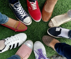 girls, shoes, and bestfriends image