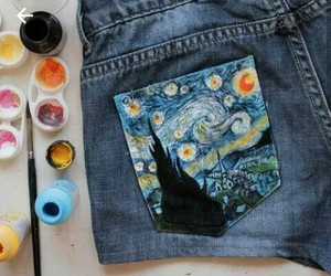 art, paint, and shorts image
