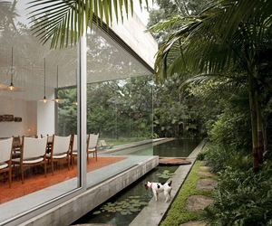 house, interior, and nature image