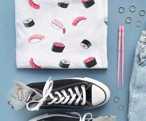 converse, outfit, and rings image