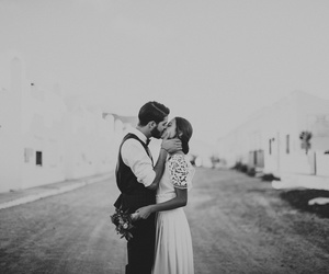 black and white, bride, and bw image