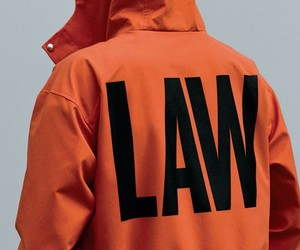 Law, orange, and orange jacket image