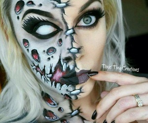 body paint, Halloween, and make up image