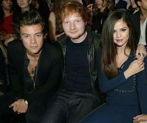 Harry Styles, ed sheeran, and selena gomez image