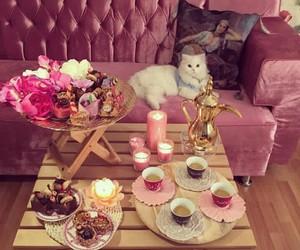 cake, قهوة العربيه, and coffee image