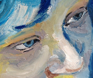 blue, art, and blue is the warmest color image