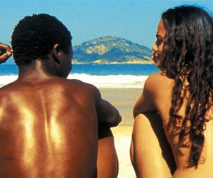 beach, city of god, and couple image