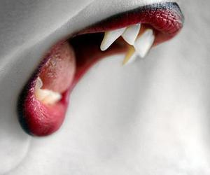 vampire, teeth, and lips image