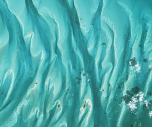abstract, aerial photography, and bahamas image