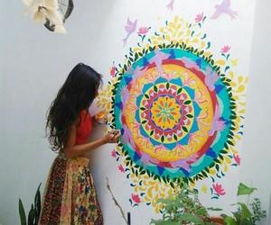 art, boho, and wall image