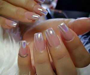 fashion, holography, and manicure image