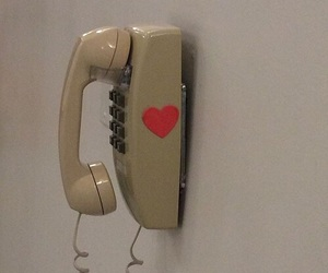 phone, heart, and vintage image