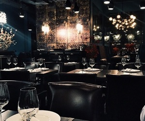 dark, restaurant, and tumblr image
